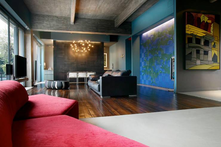 MG2 architetture - Interior - Loft: Soggiorno in stile  di mg2 architetture