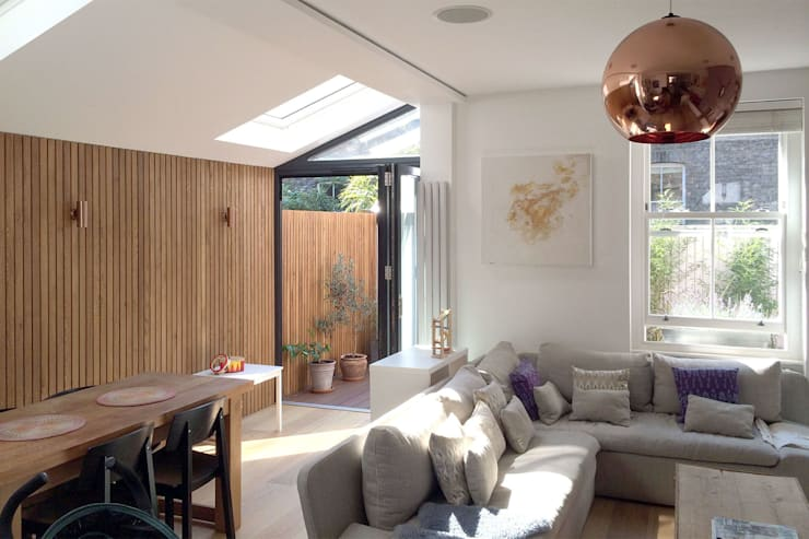 Venn Street Part 2:  Living room by Proctor & Co. Architecture Ltd