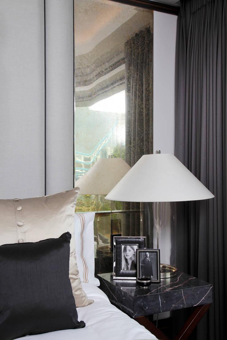 Antique Gold mirror:  Bedroom by Alguacil & Perkoff Ltd.