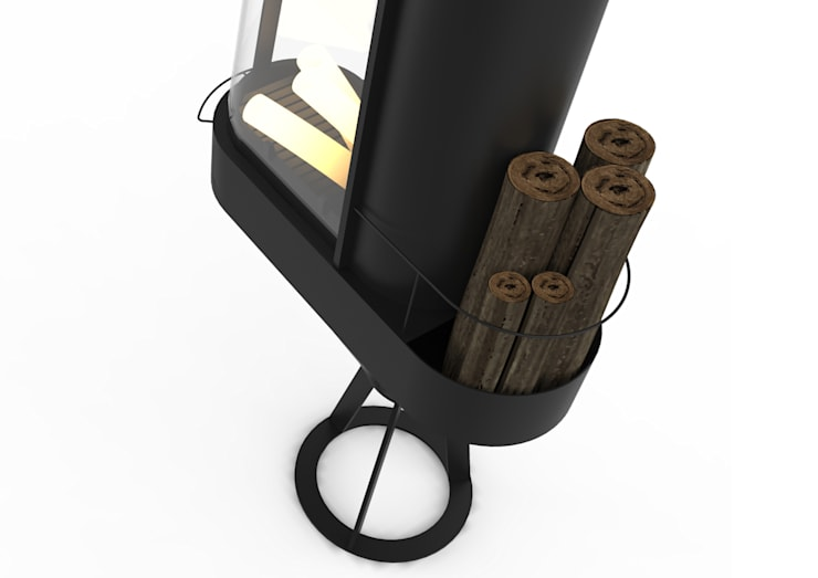 Phare, le poêle à bois: Salon de style  par Joris Bonnesoeur