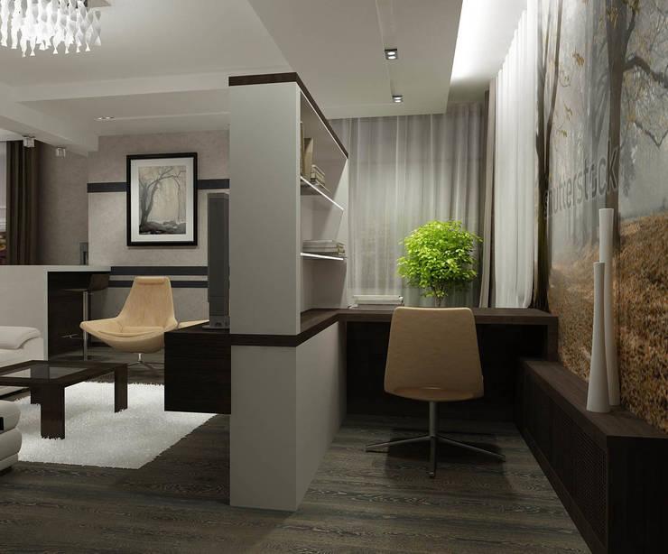 Квартира  холостяка: Рабочие кабинеты в . Автор – Efimova Ekaterina