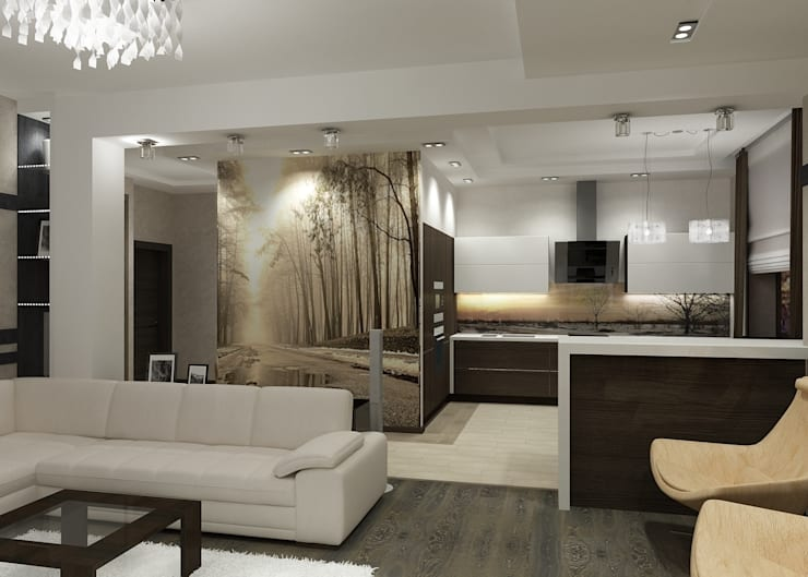 Квартира  холостяка: Кухни в . Автор – Efimova Ekaterina