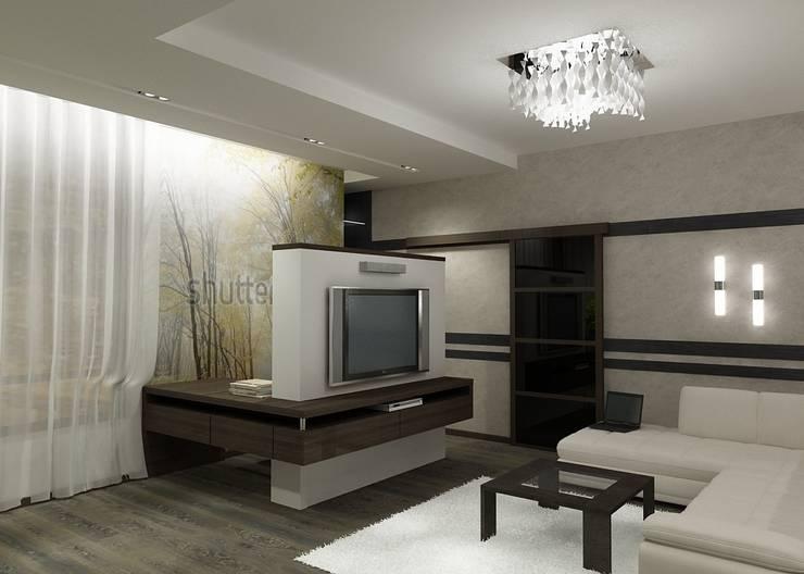 Квартира  холостяка: Гостиная в . Автор – Efimova Ekaterina