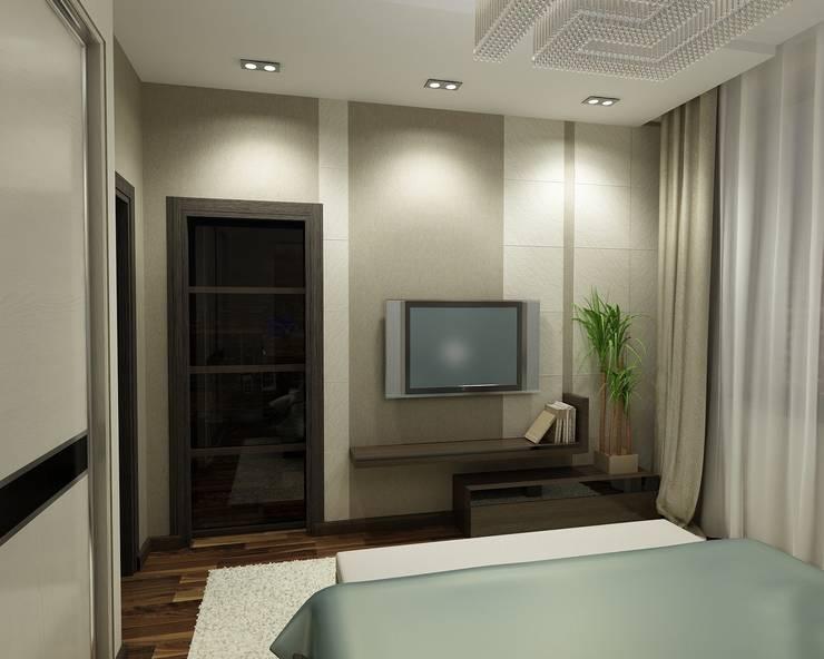 Квартира  холостяка: Спальни в . Автор – Efimova Ekaterina