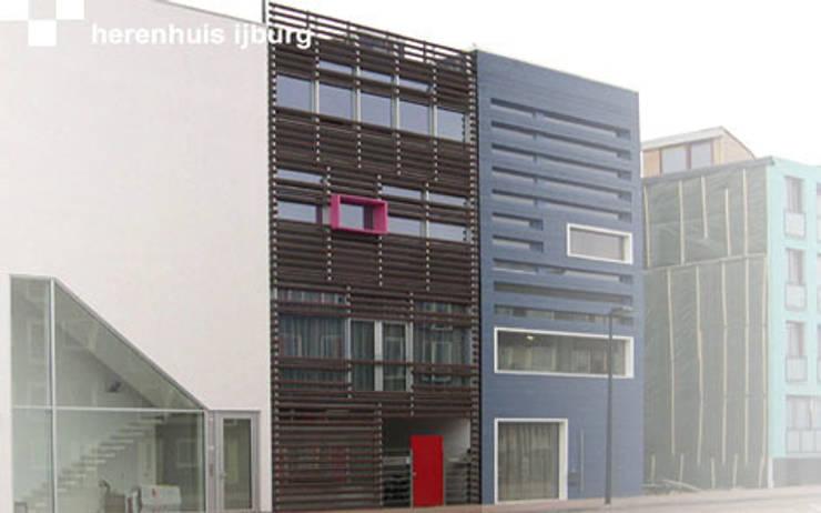 Herenhuis IJburg Steigereiland, straatgevel:  Huizen door Florian Eckardt - architectinamsterdam