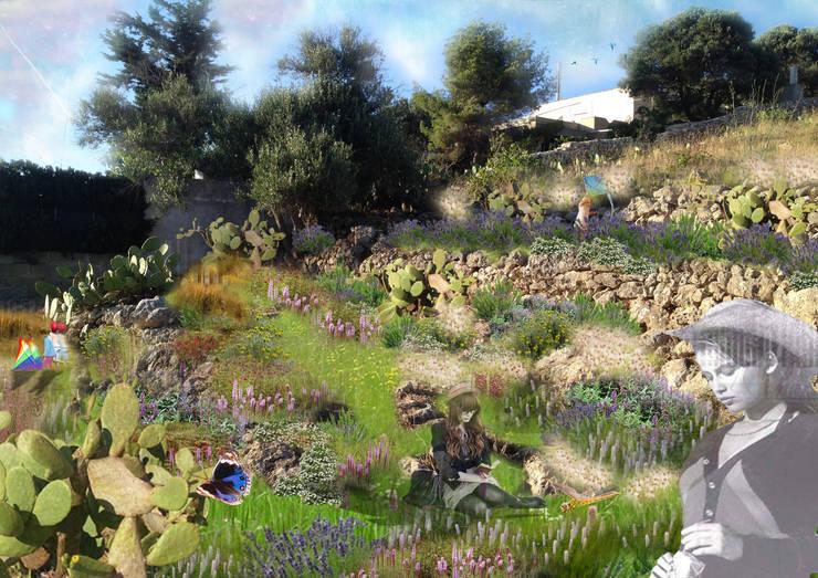 TRA MACCHIA E SANSAZIONI: Giardino in stile  di  MELLOGIARDINI EXTERIOR DESIGNERS, Mediterraneo