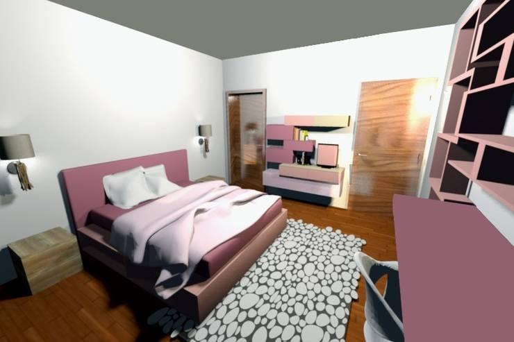 Relooking in villa: Camera da letto in stile  di Kamaleontika,