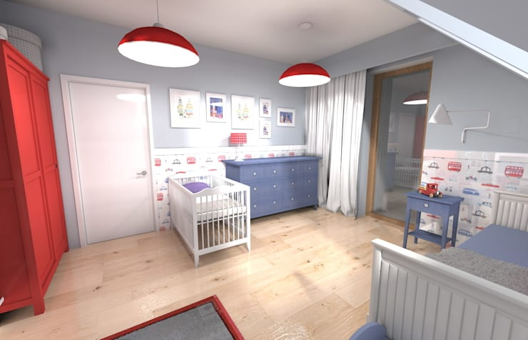 Projekt pokoju dla chłopca: styl , w kategorii Pokój dziecięcy zaprojektowany przez Orange Studio,
