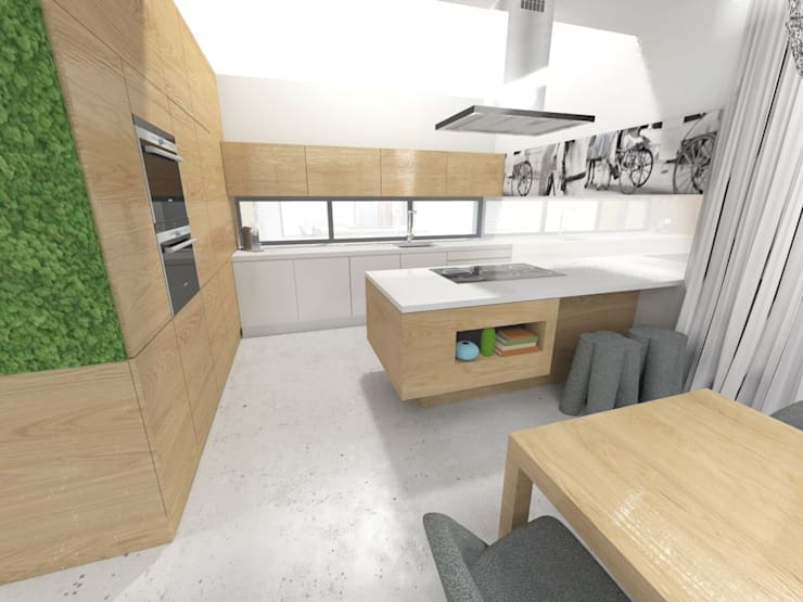 Projekt kuchni z wyspą: styl , w kategorii Kuchnia zaprojektowany przez Orange Studio,