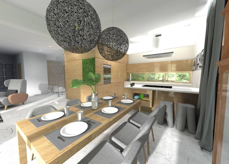 Projekt jadalni: styl , w kategorii Jadalnia zaprojektowany przez Orange Studio