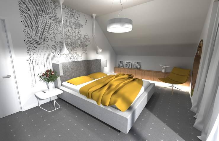 Projekt sypialni: styl , w kategorii Sypialnia zaprojektowany przez Orange Studio