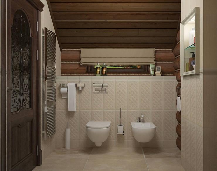 Загородный дом пос. Салмачи г. Казань: Ванные комнаты в . Автор – Saloni,