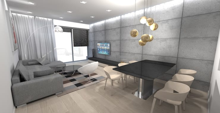 Salon - projekt: styl , w kategorii Salon zaprojektowany przez Orange Studio