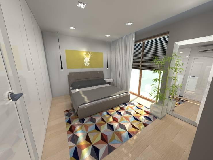 Sypialnia - projekt: styl , w kategorii Sypialnia zaprojektowany przez Orange Studio