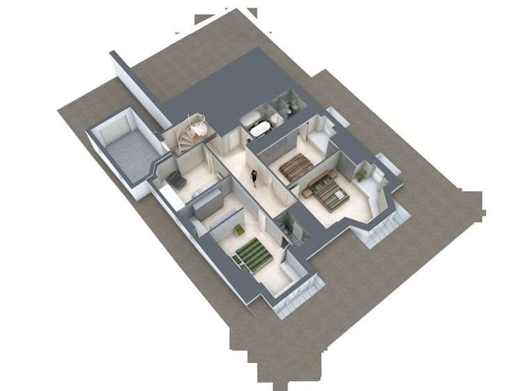 Basement plan:   by Mohsin Cooper Architects