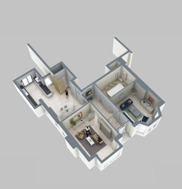 Ground floor plan:   by Mohsin Cooper Architects