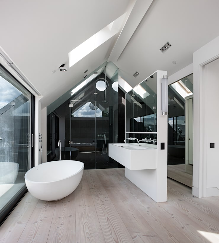 Clarendon Works, Notting Hill, London:  Bathroom by moreno:masey