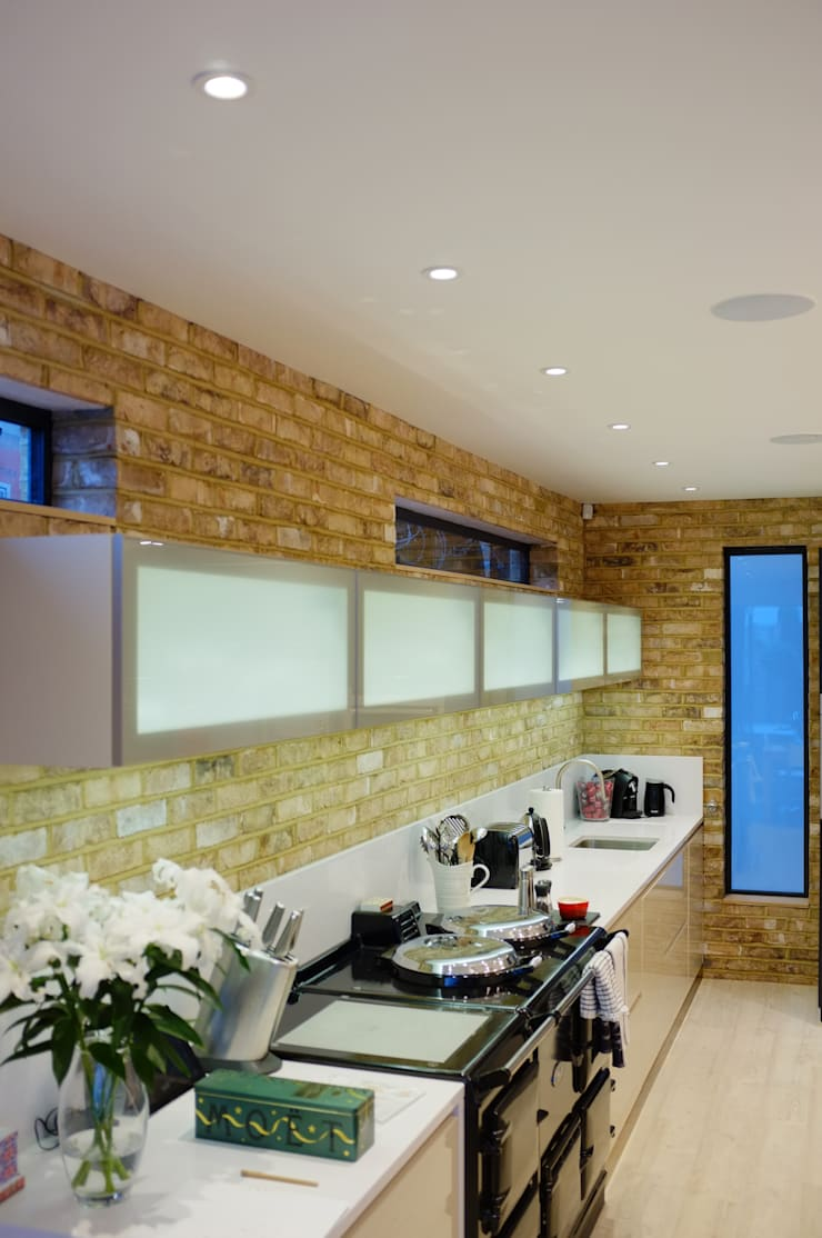 Clapham South—Conversion and Refurbishment:  Kitchen by Arc 3 Architects & Chartered Surveyors