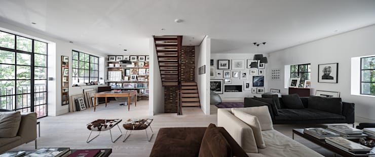 Clarendon Works, Notting Hill, London: modern Living room by moreno:masey