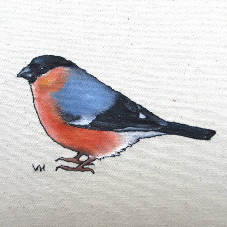 Bullfinch :  Artwork by Lottie's Cottage