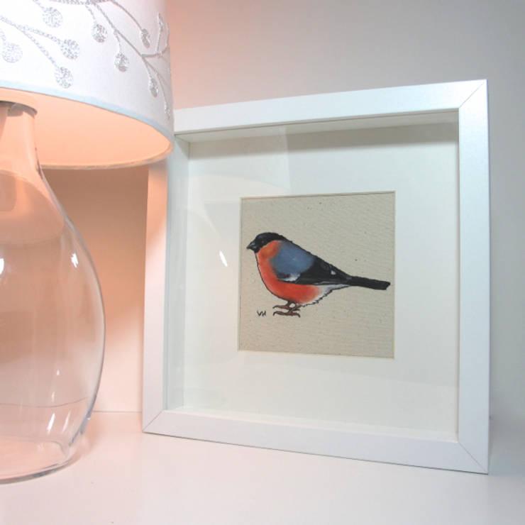 Bullfinch:  Artwork by Lottie's Cottage