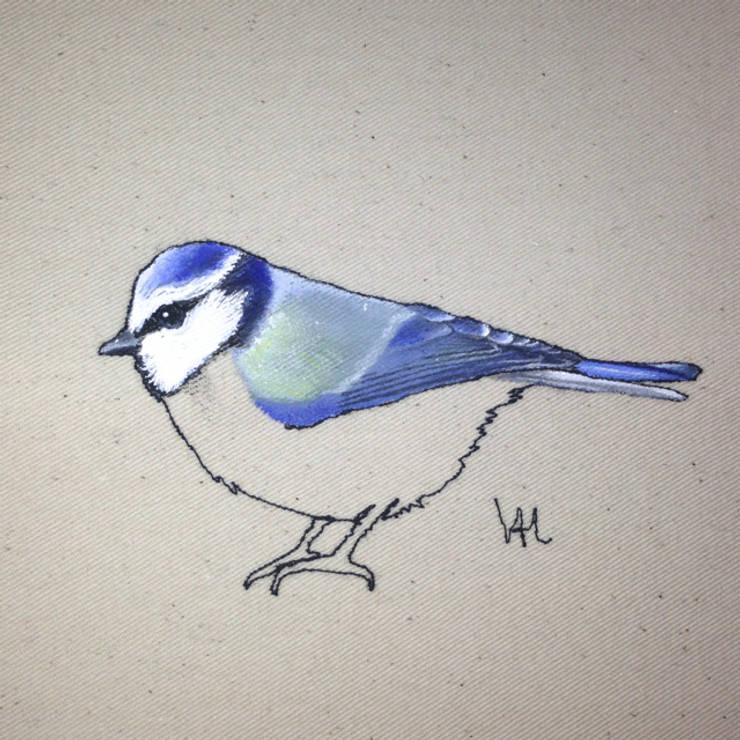 Blue tit painting in progress :  Artwork by Lottie's Cottage