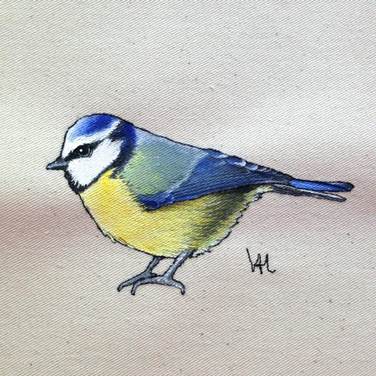 Blue tit :  Artwork by Lottie's Cottage