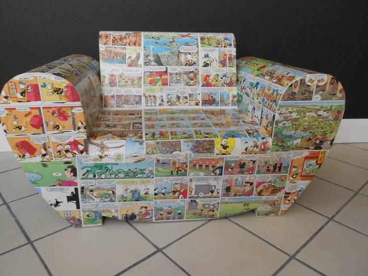 Fauteuil enfant.: Chambre d'enfants de style  par chouette carton