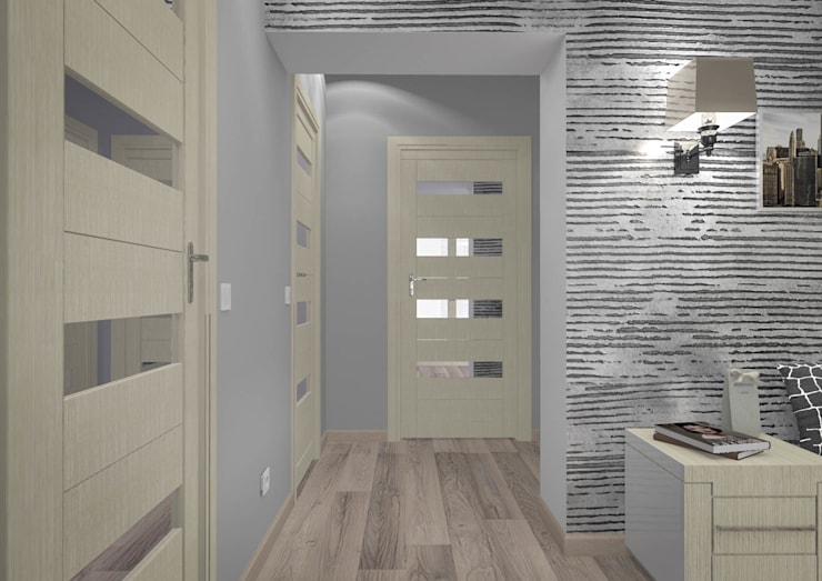 Кухня и входная зона квартиры: Коридор и прихожая в . Автор – RENDER