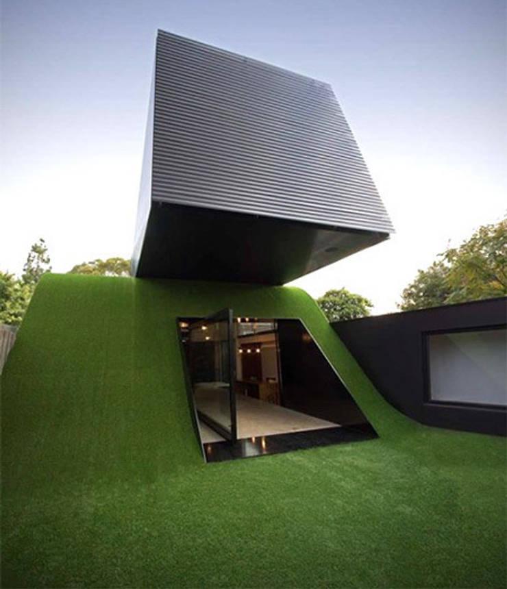 cesped artificial terraza: Terrazas de estilo  de Allgrass Solutions