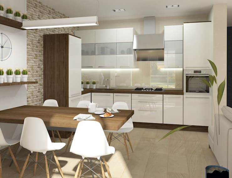 Кухня-столовая: Кухни в . Автор – e.v.a.project architecture & design