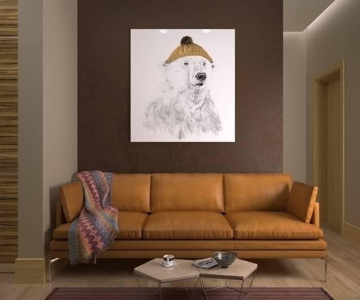 Living room by Максим Любецкий, Minimalist