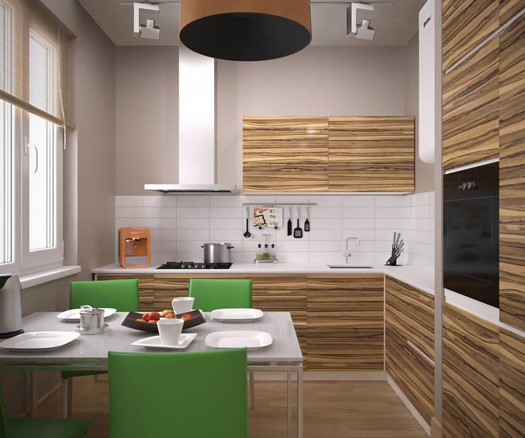 Квартира на Рахманинова: Кухни в . Автор – Максим Любецкий