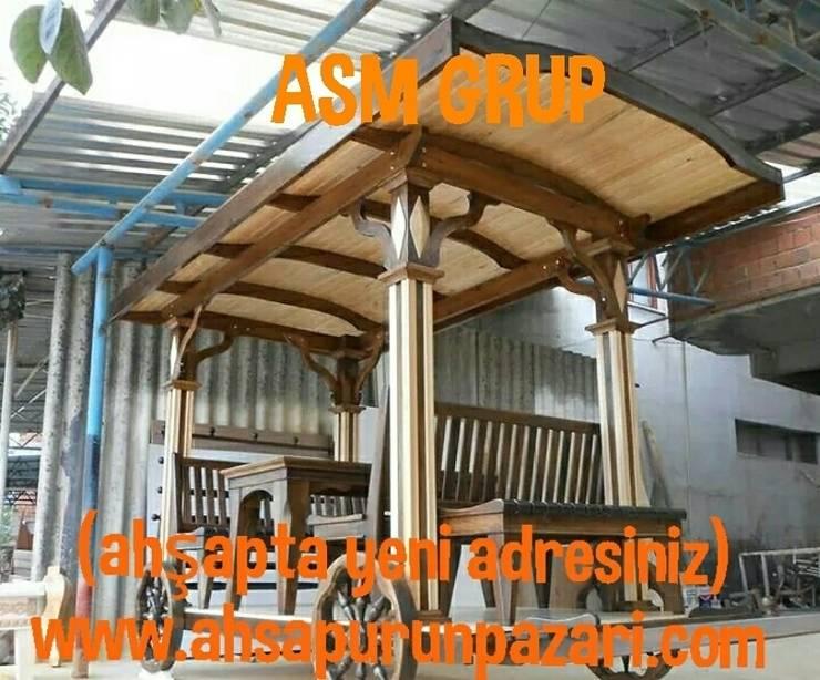 ASM GRUP bahçe mobilyaları ve ahşap uygulamaları – fayton kamelyalar:  tarz Bahçe