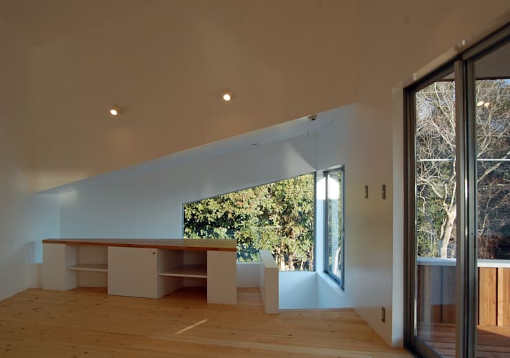 S教授の家_リビング: 佐賀高橋設計室/SAGA + TAKAHASHI architects studioが手掛けたリビングです。