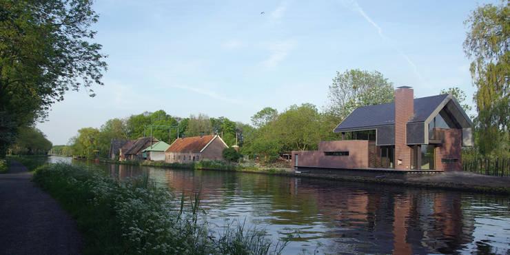 Woning aan de Vliet:  Huizen door VVKH Architecten