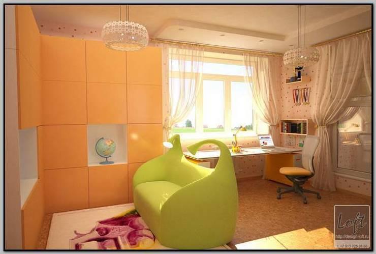 Детская комната для девочки подростка: Детские комнаты в . Автор – Мастерская дизайна  LOFT,