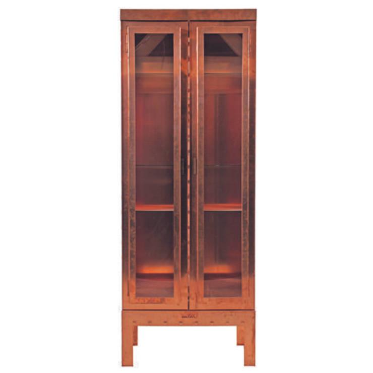 Display cabinet Copper/  Vitrinekast Roodkoper:   door Blok Meubel, Industrieel