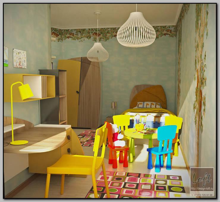Детская комната для 2-хлетней малышки: Детские комнаты в . Автор – Мастерская дизайна  LOFT, Тропический