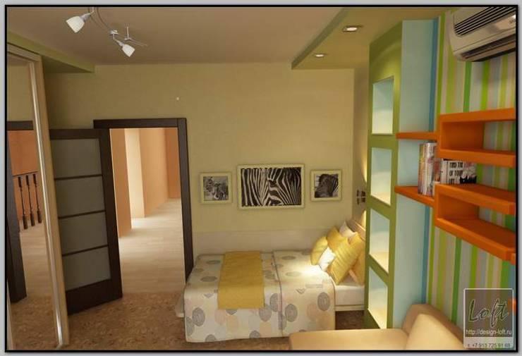 Детская комната в загородном доме: Детские комнаты в . Автор – Мастерская дизайна  LOFT