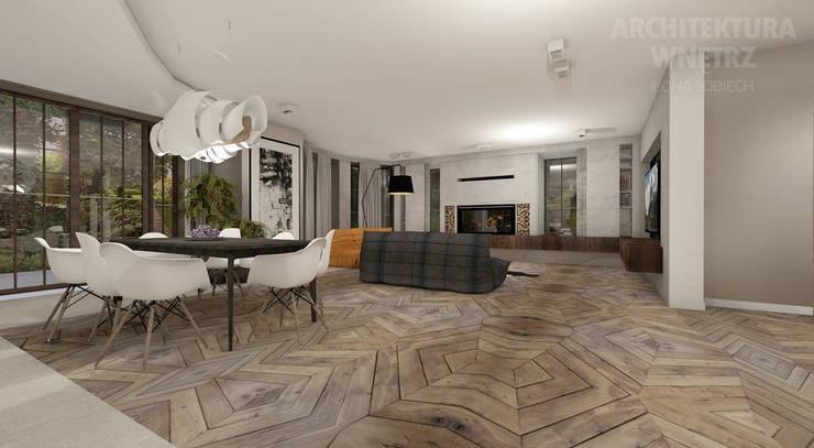 http://ilonasobiech.pl/portfolio/aranzacja-domu-warszawa/ : styl , w kategorii Salon zaprojektowany przez Architekt wnętrz Ilona Sobiech