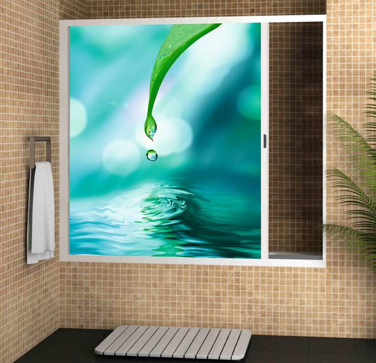 Mampara baño enrrollable: Oficinas y Tiendas de estilo  de info3916