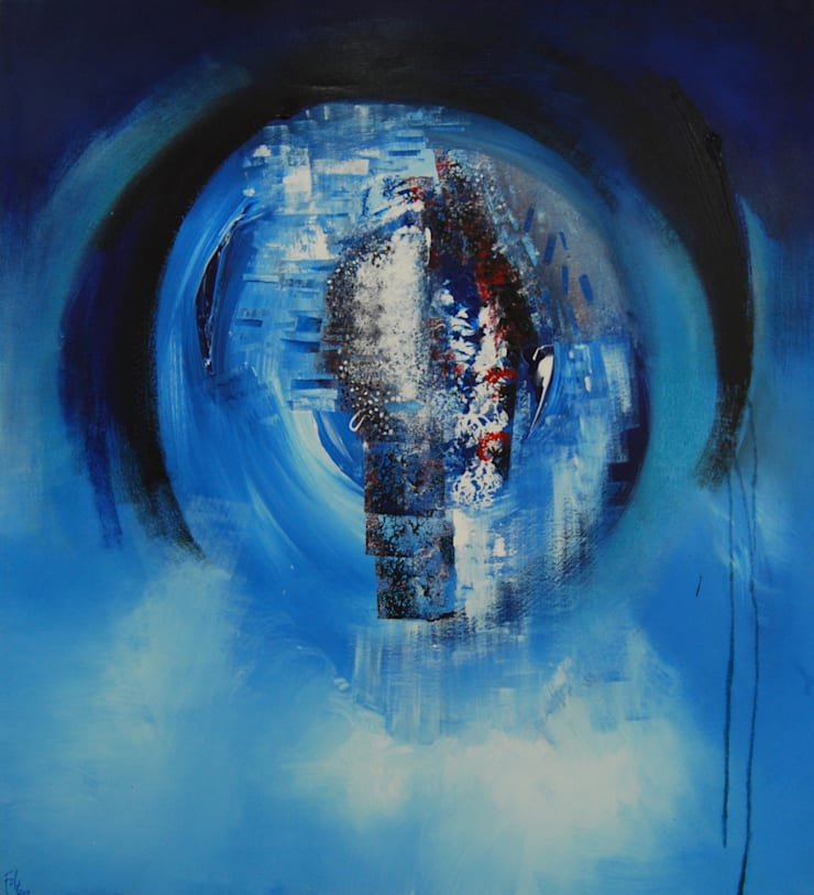 Planete Bleue by Fola Lawson:  Artwork by Mille Arts
