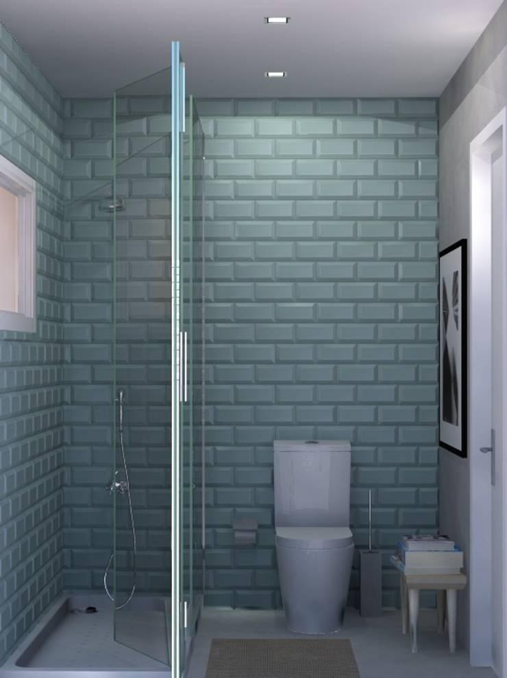 Beach House - Bathroom: Casas de banho  por Santiago | Interior Design Studio