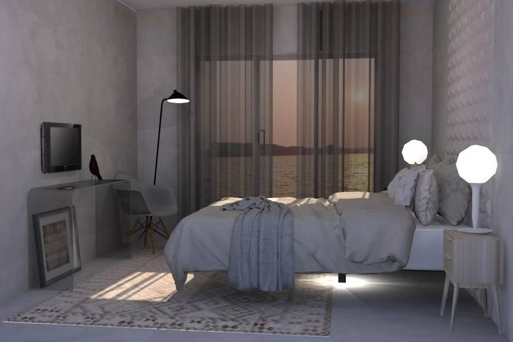 Beach House - Suite: Quartos ecléticos por Santiago | Interior Design Studio