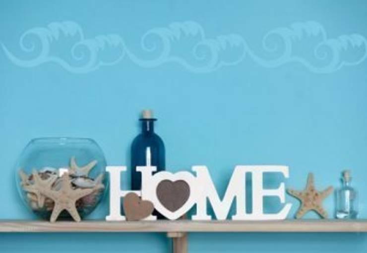 Lettres décoratives - 3D HOME 4 - Cœur: Maison de style  par wall-art.fr