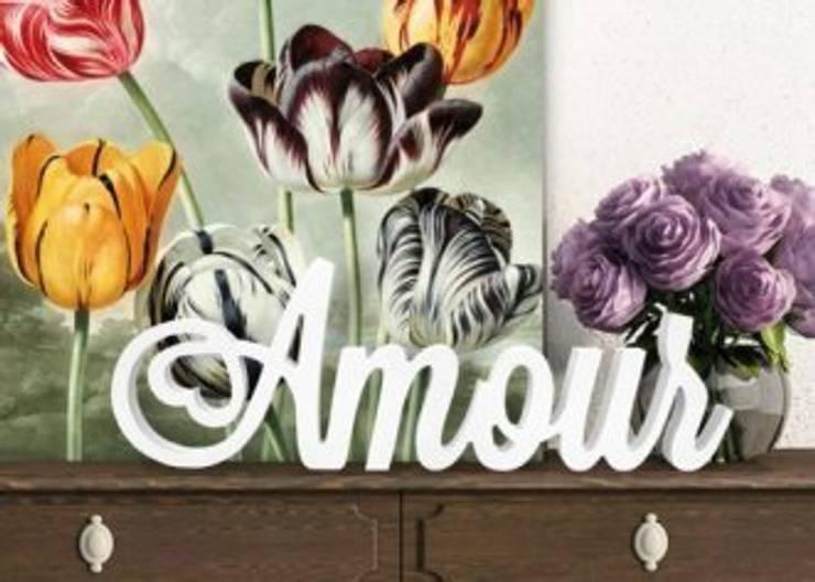 3D Amour: Chambre de style  par wall-art.fr