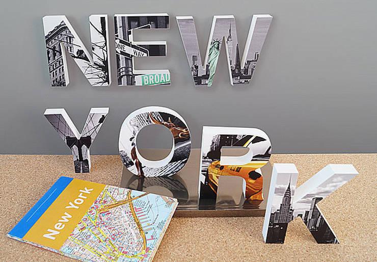 3D NEW YORK imprimé: Maison de style  par wall-art.fr