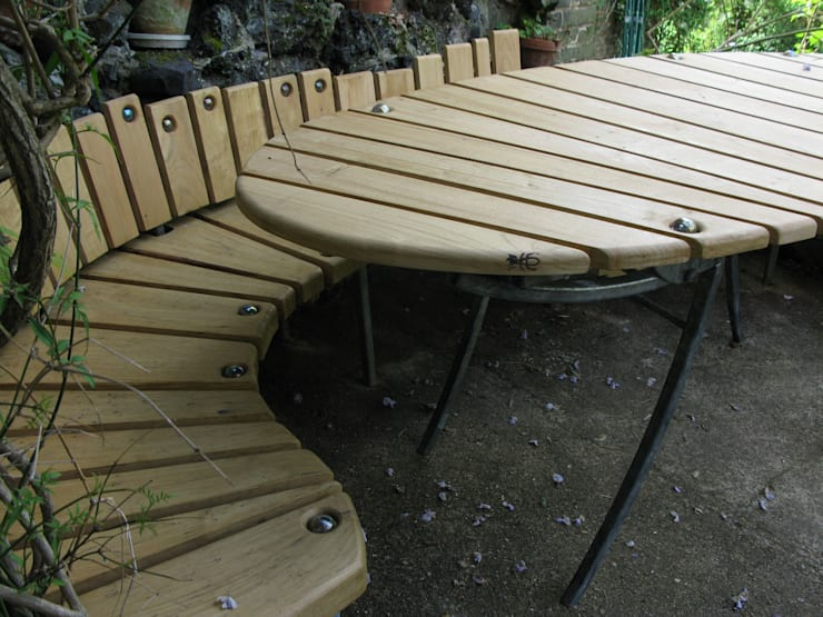 garden dining table and bench:  Garden  by tim germain furniture designer/maker