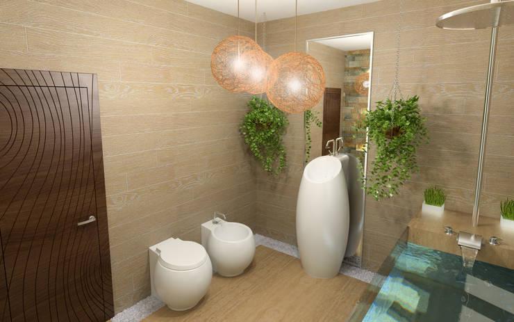 Cottage in Eco style: Ванные комнаты в . Автор – HandZart